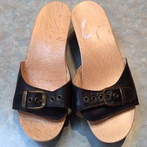 Scholl black sandals